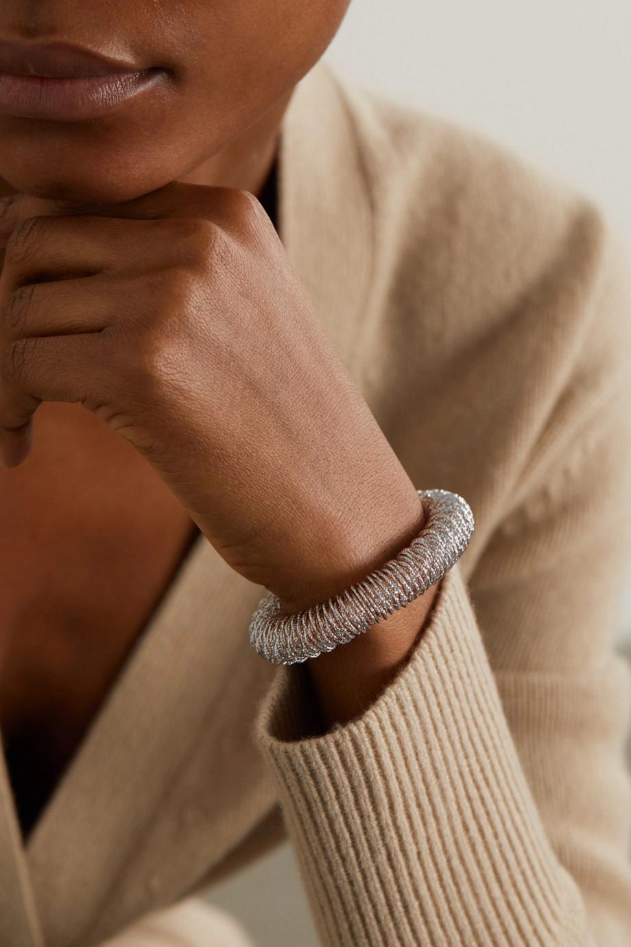 Carolina Bucci K.I.S.S. Large Armband aus 18 Karat Weiß- und Roségold