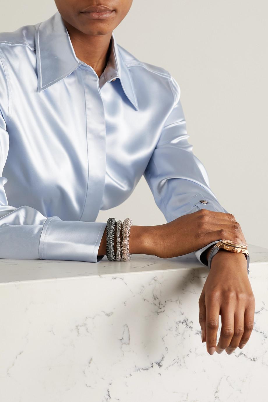 Carolina Bucci K.I.S.S. Large 18-karat blackened white gold bracelet