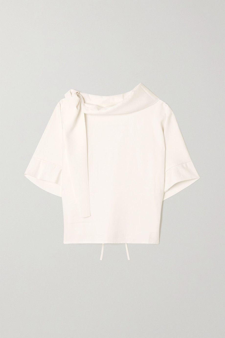 aaizél Draped twill blouse