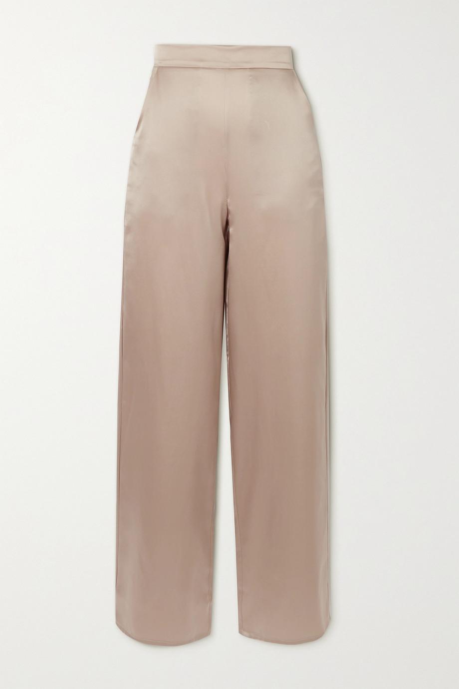aaizél Silk-satin straight-leg pants