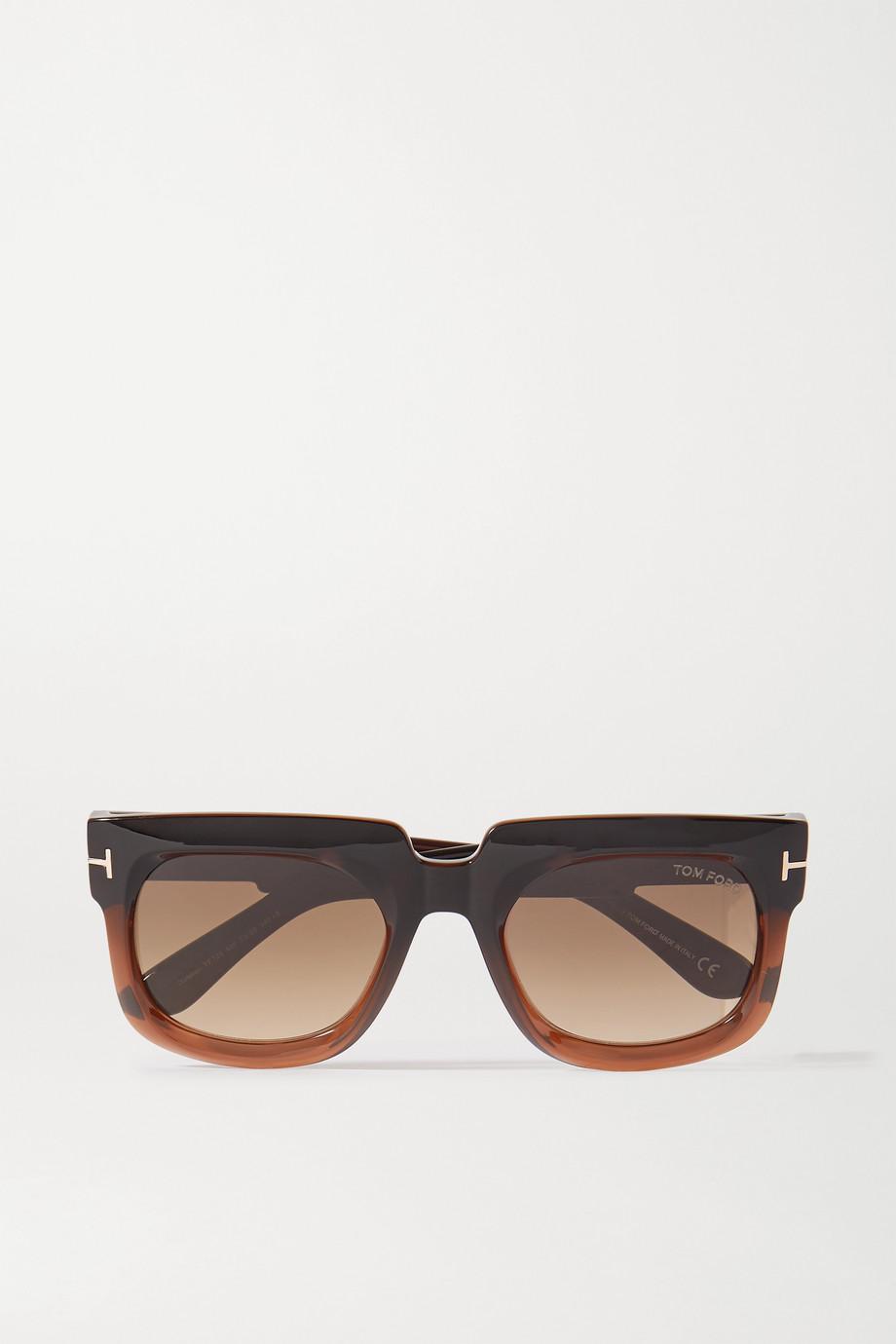 TOM FORD Sonnenbrille mit D-Rahmen aus Azetat mit Farbverlauf