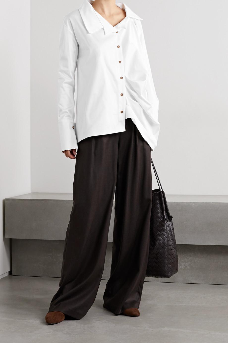 aaizél Hemd aus Popeline aus einer Baumwollmischung mit Raffungen