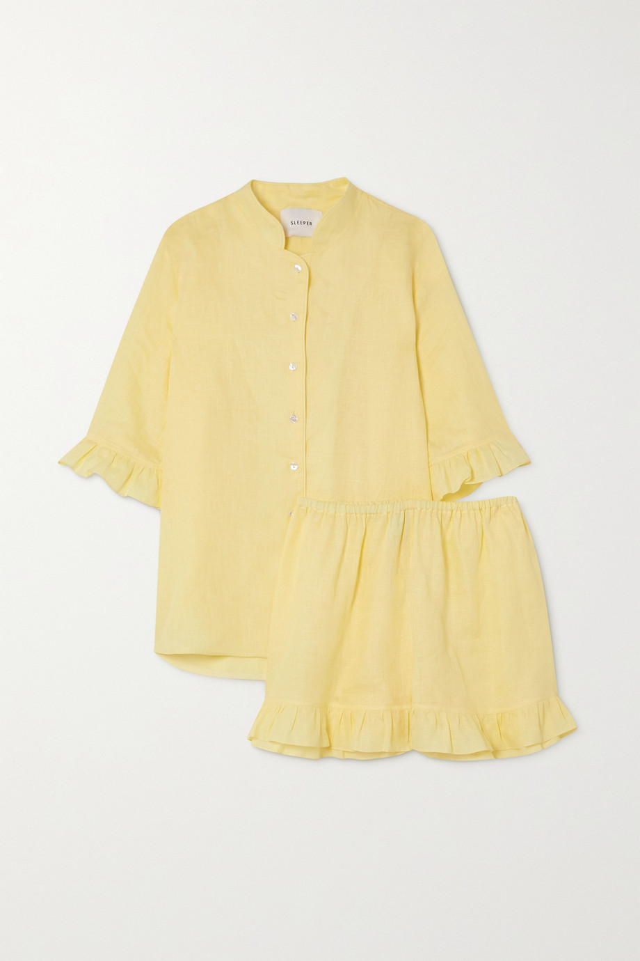 Sleeper Ruffled linen pajama set