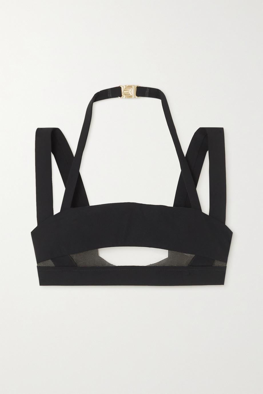 Agent Provocateur Fynlee mesh-paneled bikini top