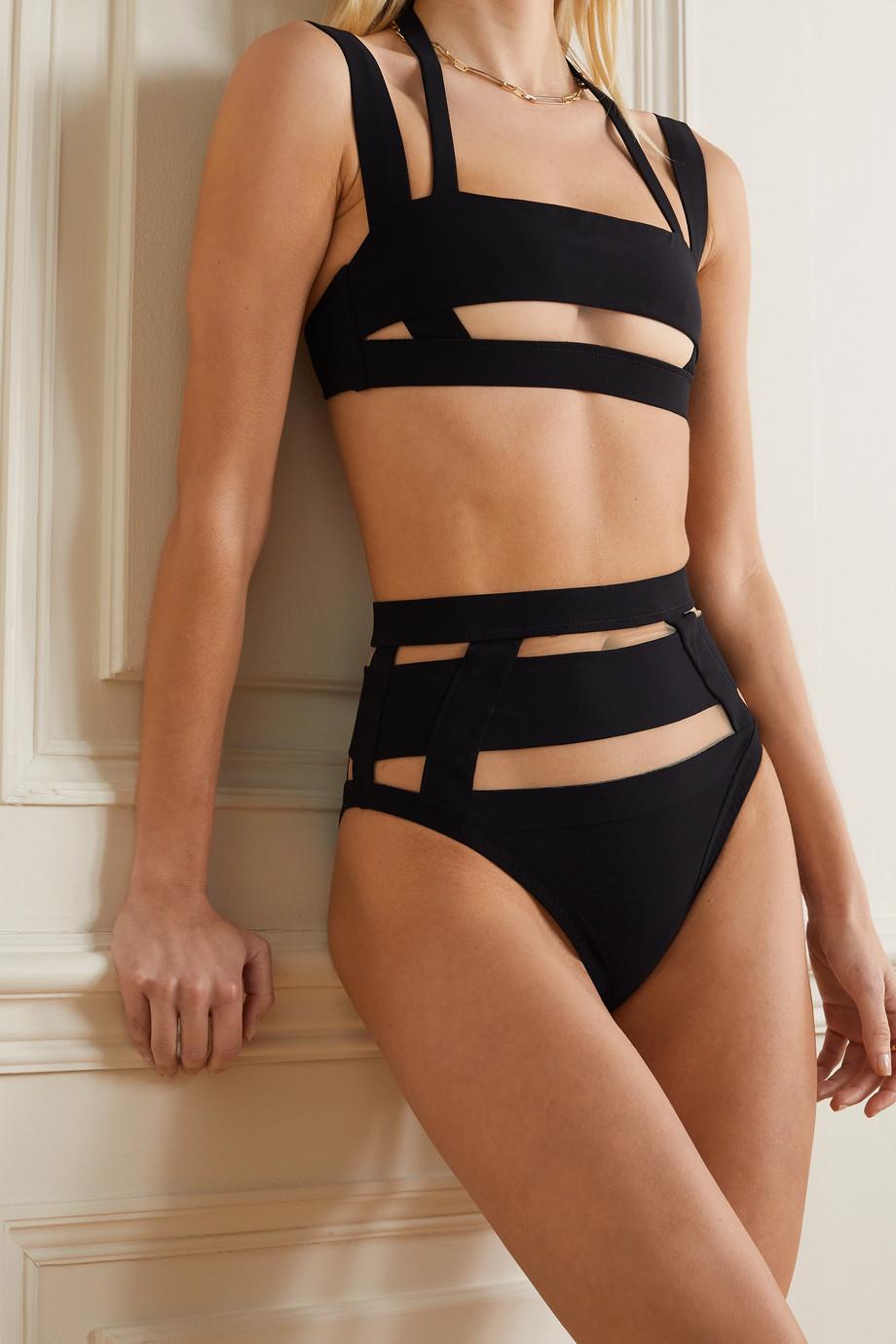 Agent Provocateur Fynlee mesh-paneled bikini briefs