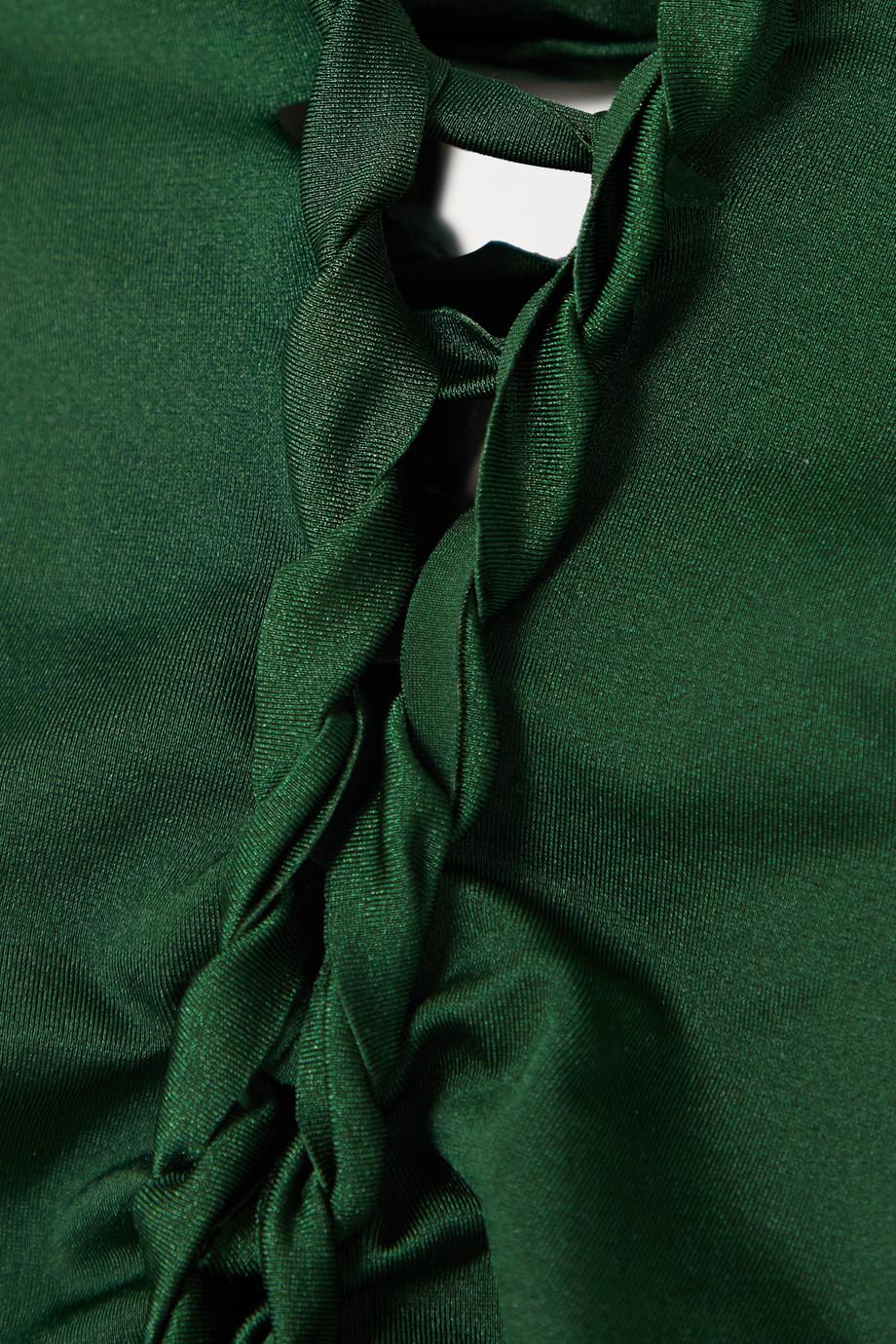 Agent Provocateur Marlow lace-up swimsuit