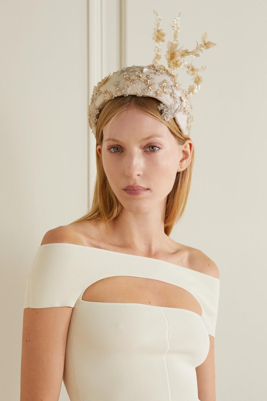 Merve Bayindir Teresa embellished embroidered taffeta hat