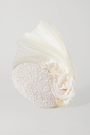 Merve Bayindir Rosalind sequin-embellished tulle and Pinokpok fascinator
