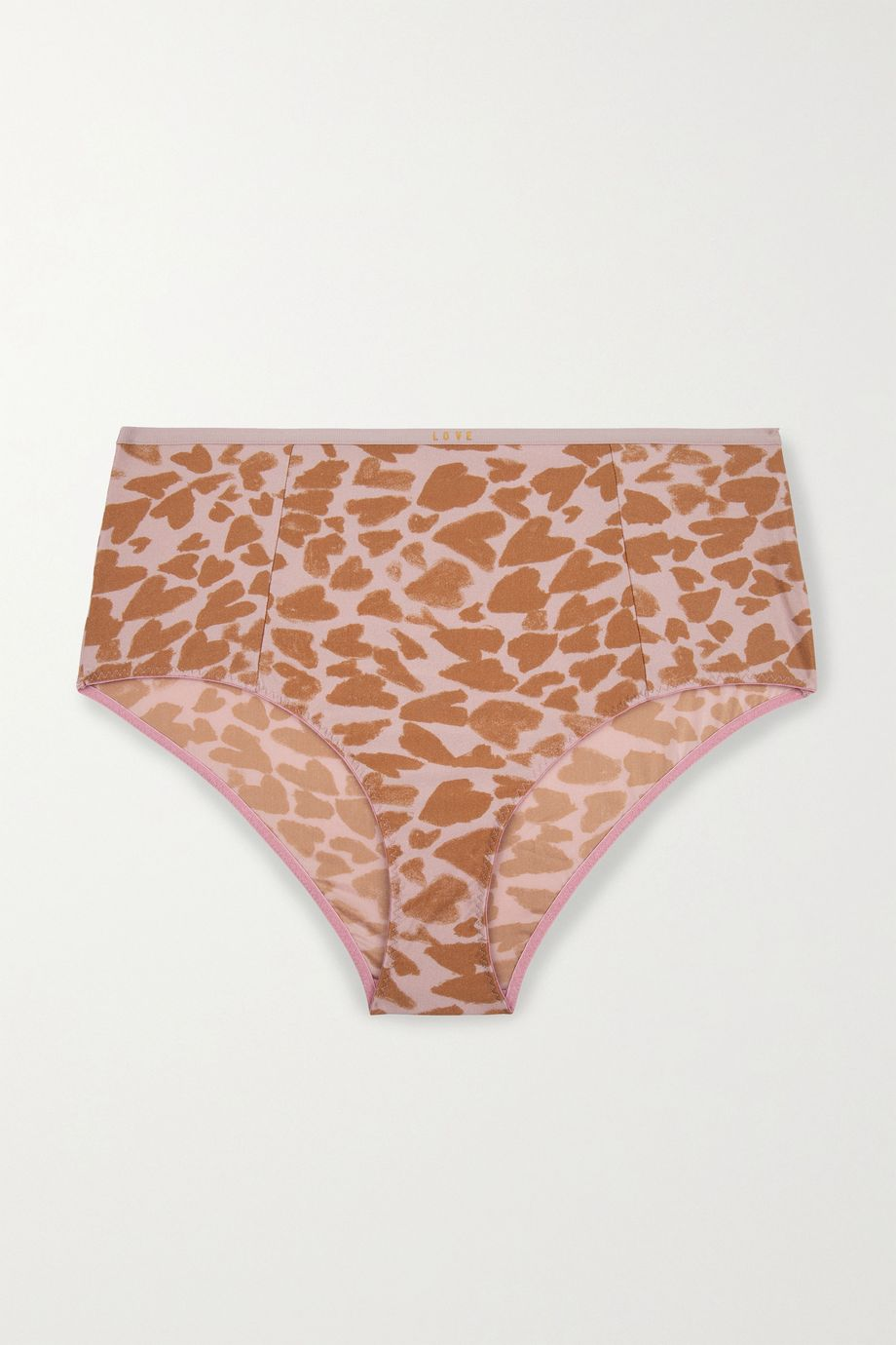 Love Stories Moonflower printed stretch-jersey briefs