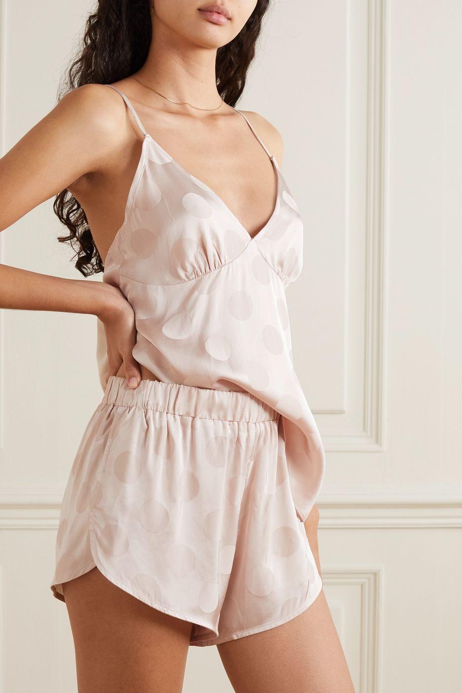 Love Stories Cotton Candy Pyjama-Shorts aus glänzendem Jacquard mit Polka-Dots