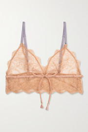 Love Stories Dawn satin-trimmed stretch-lace soft-cup triangle bralette