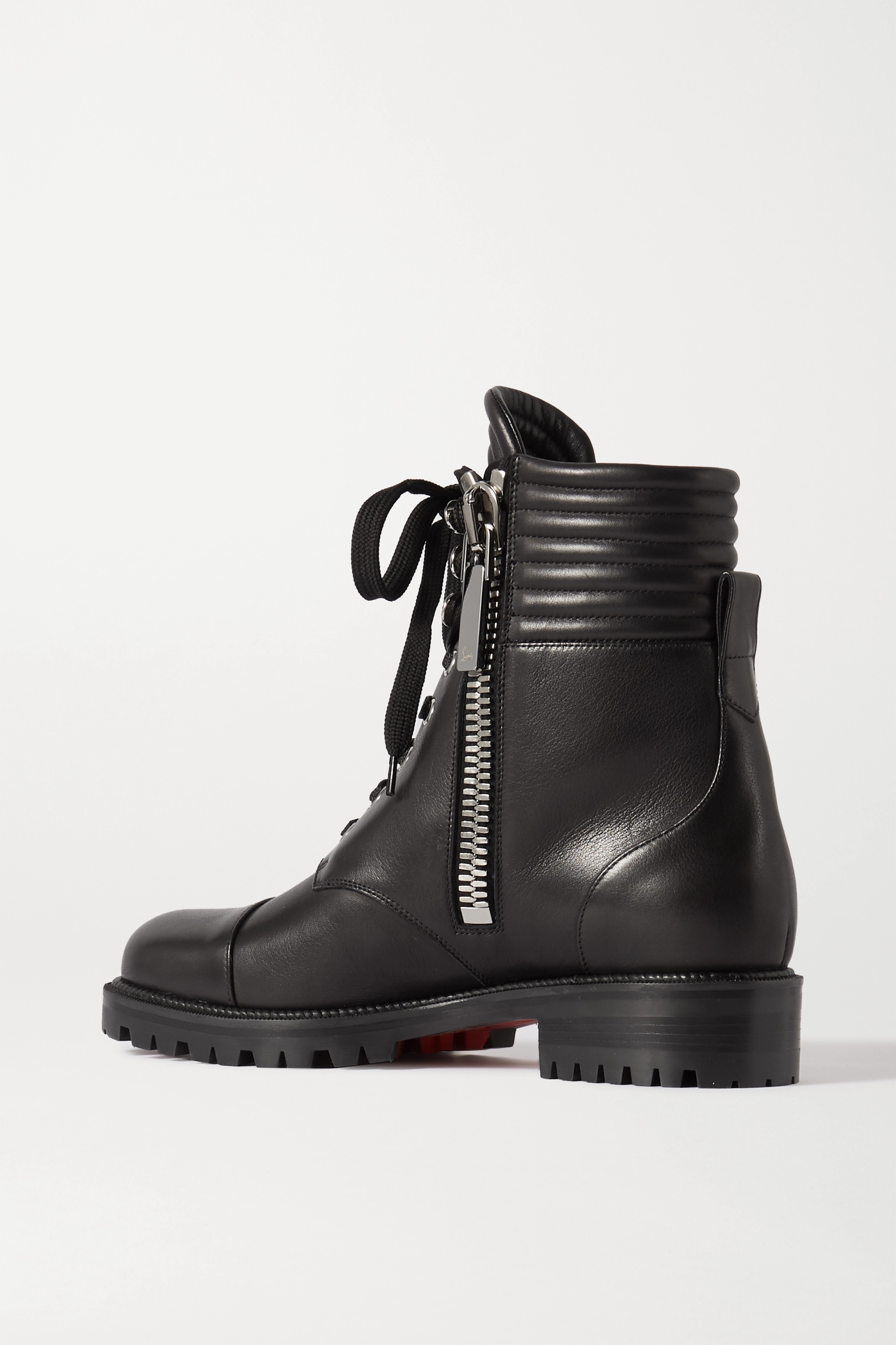 Christian Louboutin En Hiver lace-up leather ankle boots