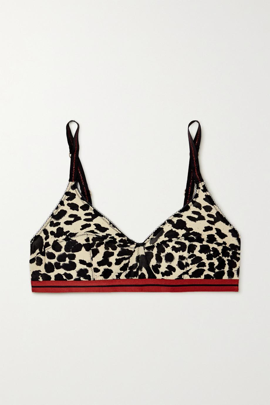 Love Stories Celia leopard-print stretch-jersey soft-cup triangle bra