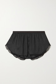 Love Stories Mae satin-jacquard pajama shorts