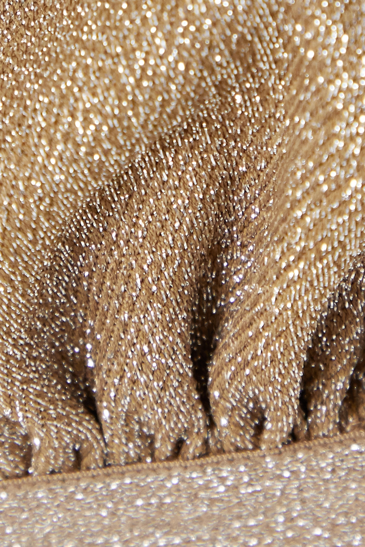 Love Stories Filippa lace-trimmed metallic stretch-jersey soft-cup triangle bra