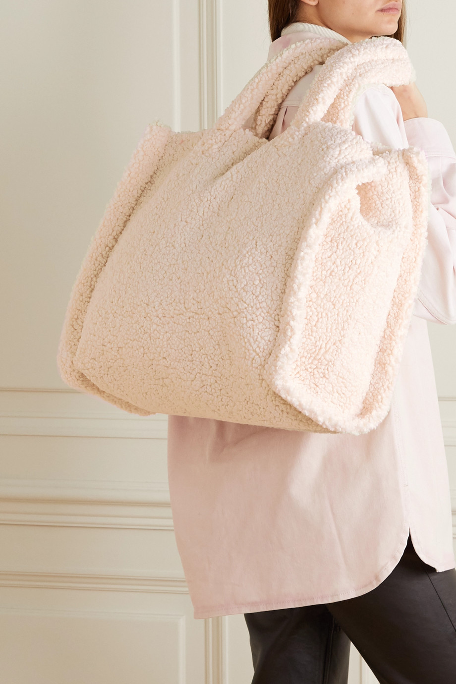 Stand Studio Lola faux shearling tote