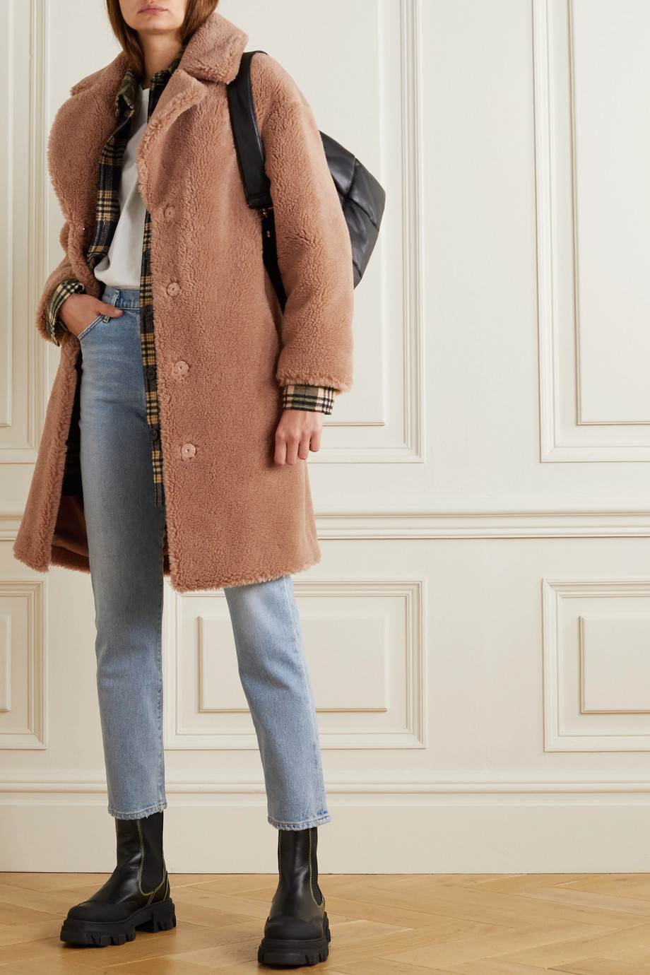 Stand Studio Camille Cocoon faux shearling coat