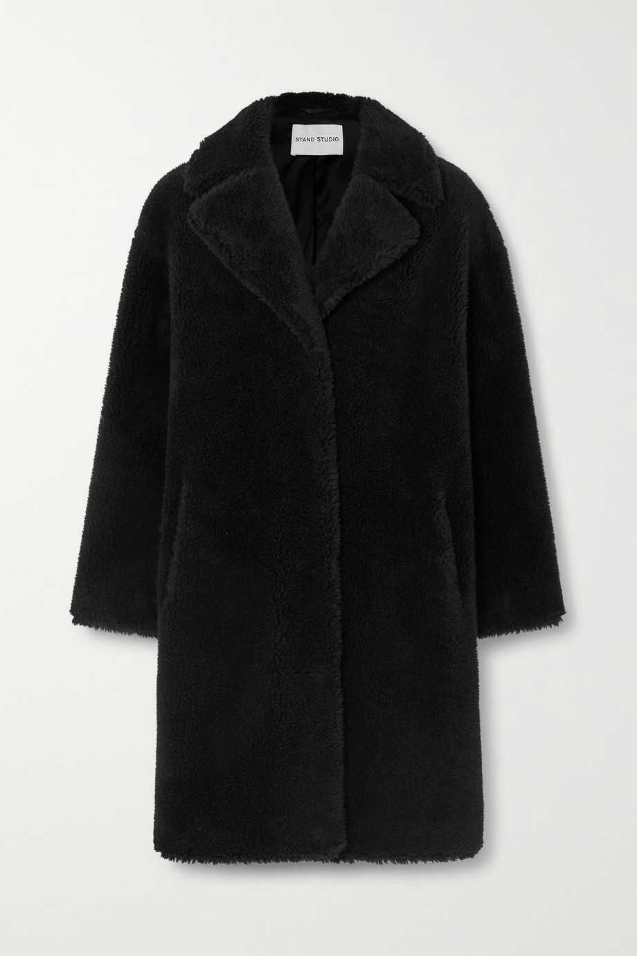 Stand Studio Camille Cocoon oversized faux shearling coat