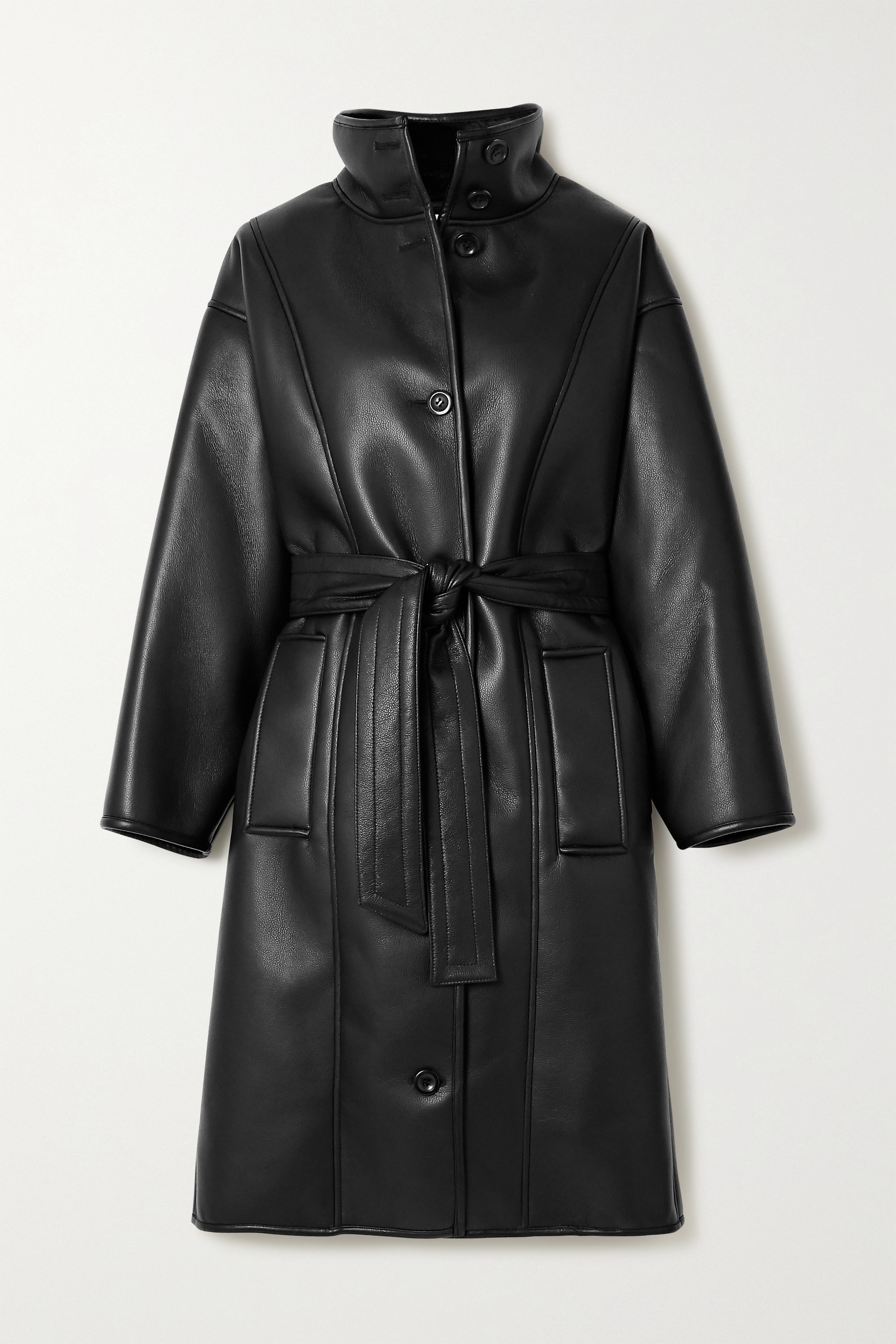 Stand Studio Kristina faux shearling-lined faux leather coat