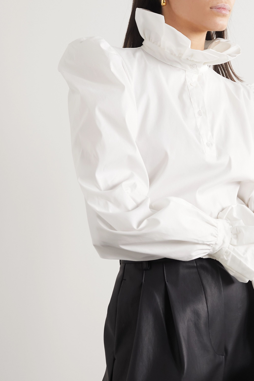 AVAVAV Ruffled cotton-poplin shirt
