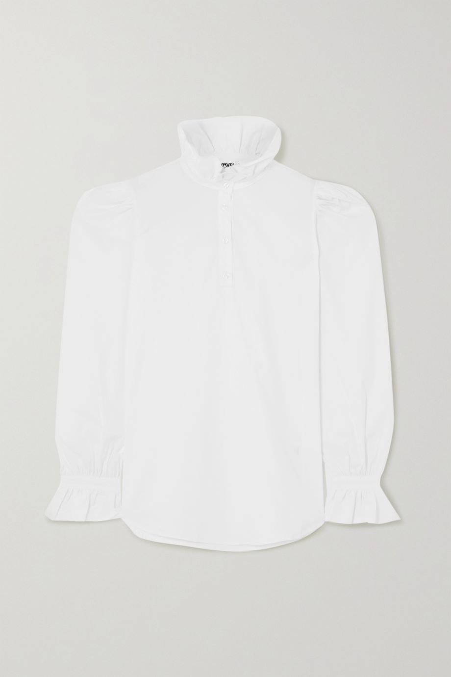 AVAVAV Ruffled cotton-poplin shirt