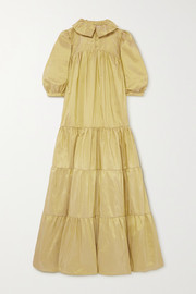 AVAVAV Tiered silk-taffeta maxi dress