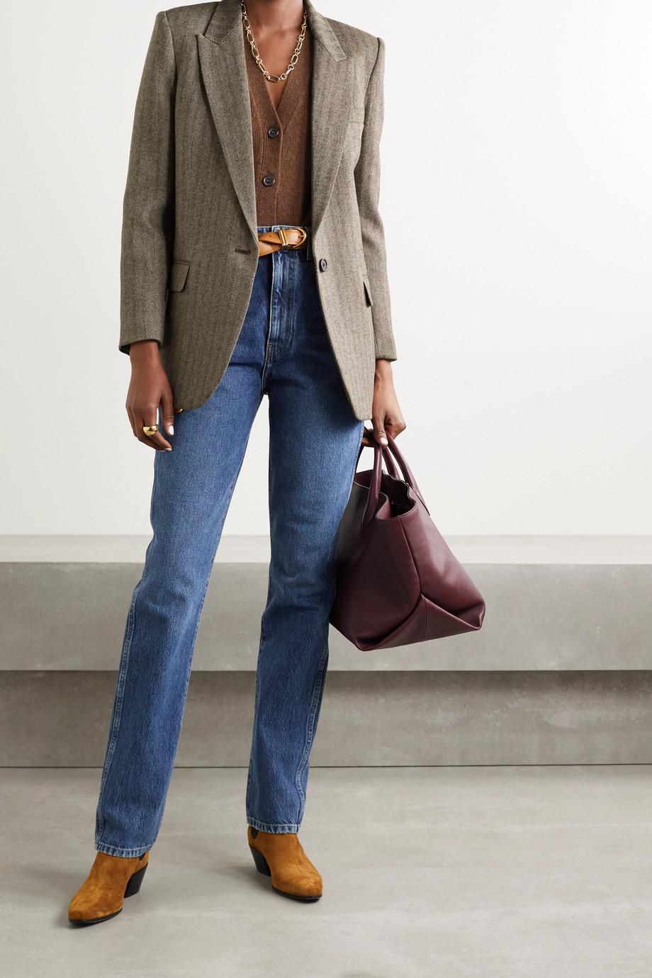 Nili Lotan Diane herringbone wool-blend twill blazer