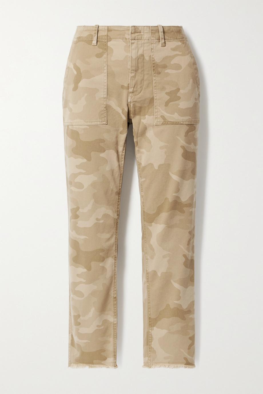 Nili Lotan Pantalon slim raccourci en serge de coton stretch à imprimé camouflage Jenna