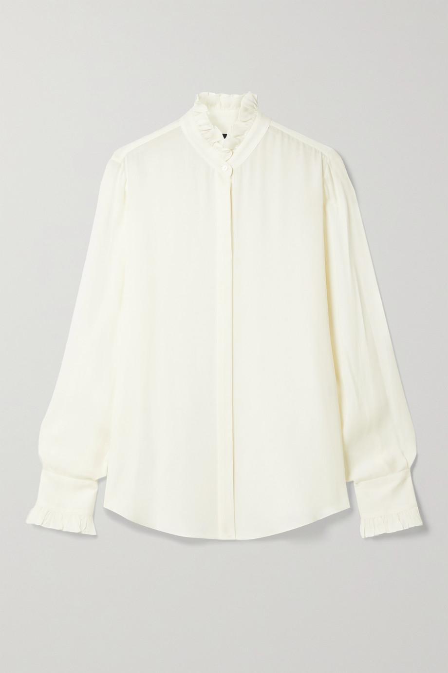 Nili Lotan Aleia ruffled silk-chiffon shirt