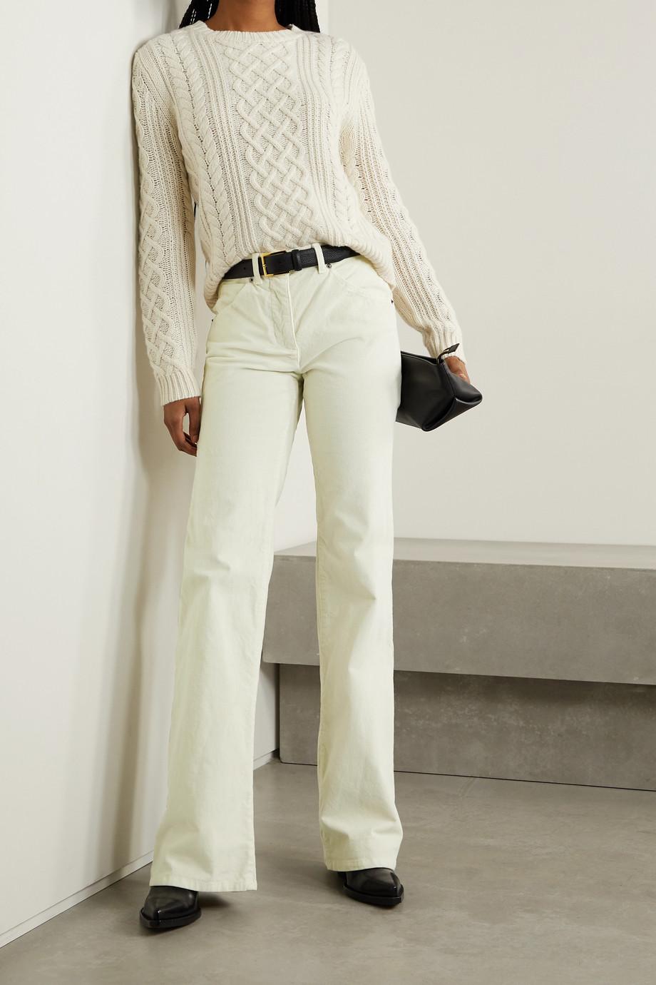 Nili Lotan Celia Hose mit geradem Bein aus Cord aus einer Baumwollmischung