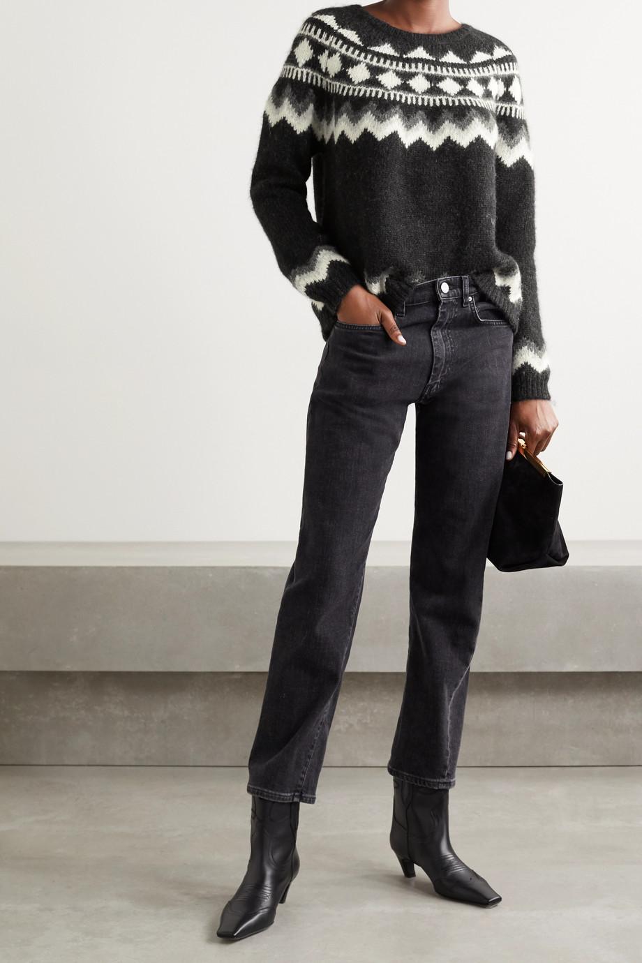 Nili Lotan Adene Fair Isle alpaca-blend sweater