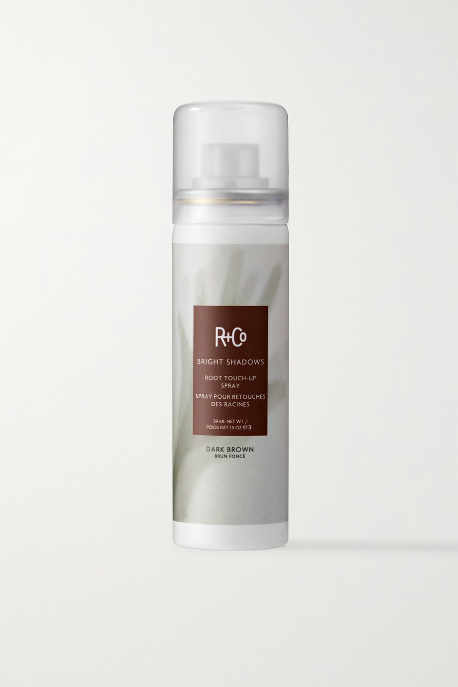 R+Co Bright Shadows Root Touch-Up Spray – Dark Brown, 59 ml – Ansatzspray