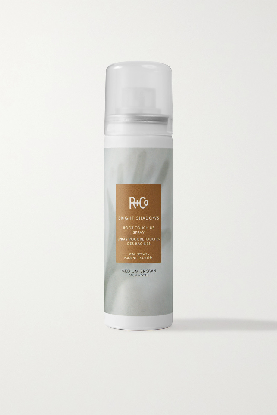 R+Co Bright Shadows Root Touch-Up Spray - Medium Brown, 59ml
