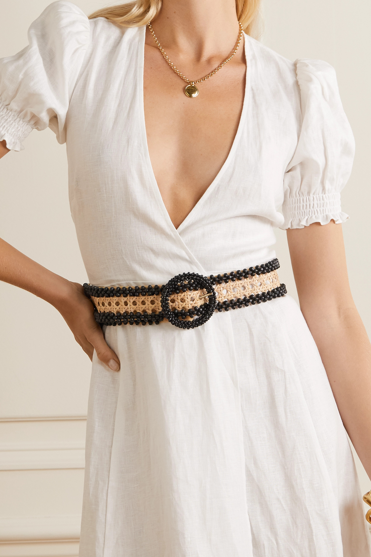 Rosantica Mamba bead-embellished wicker waist belt