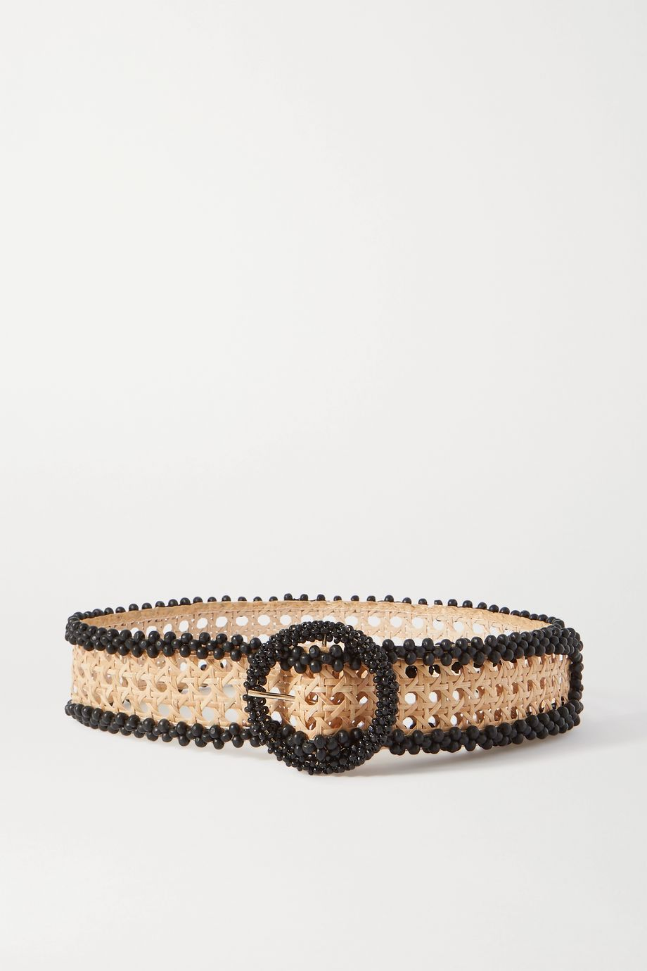 Rosantica Mamba bead-embellished wicker waist belt