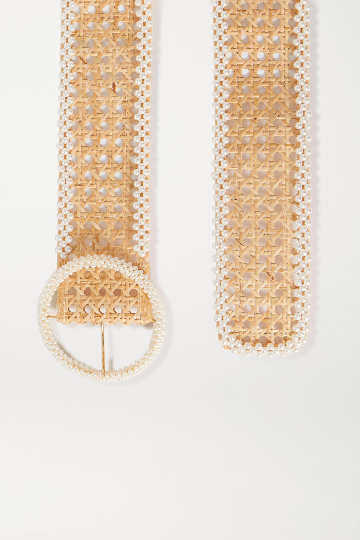 Rosantica Ceinture en osier à perles synthétiques Mamba
