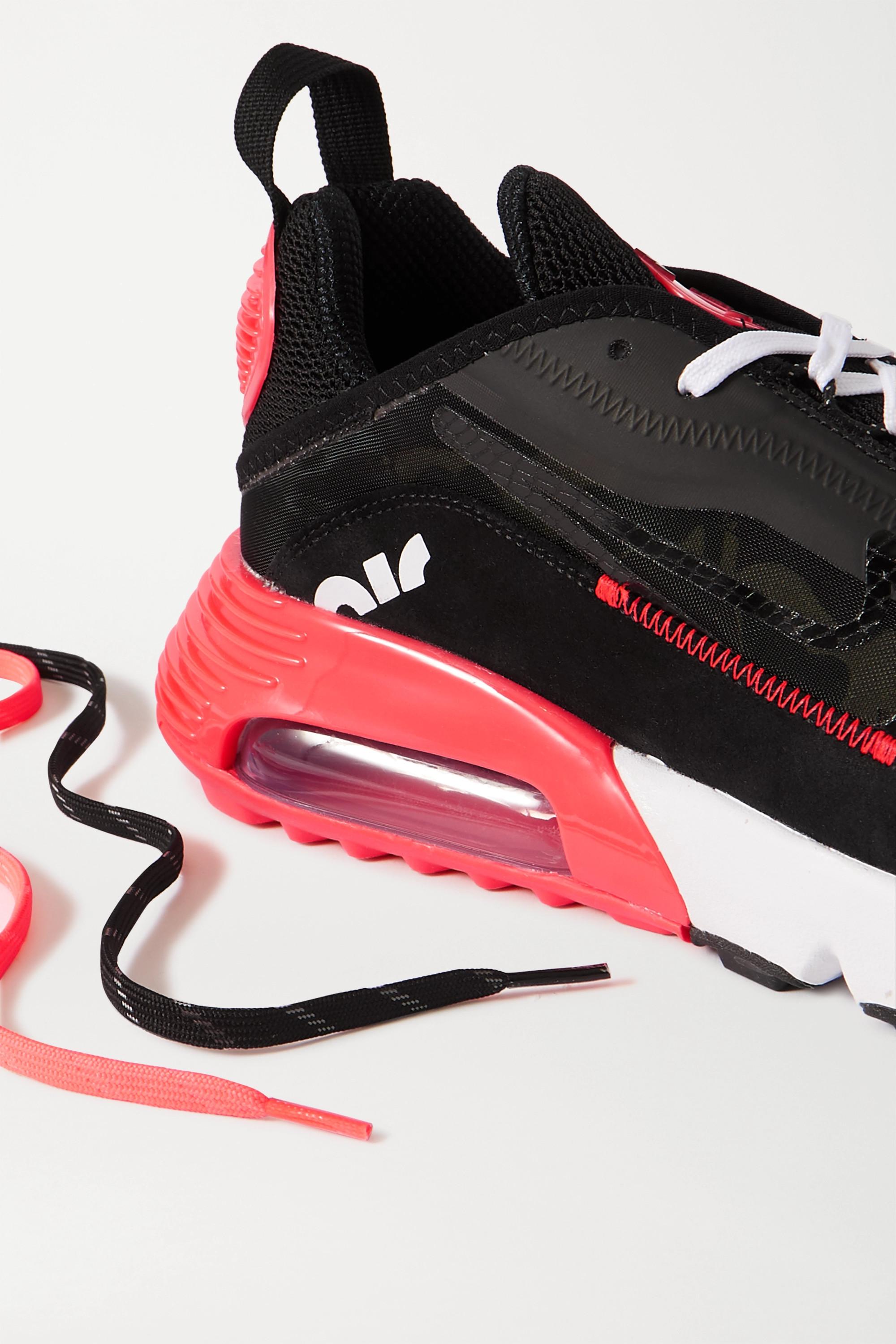 Nike Air Max 2090 Sneakers aus Canvas, Veloursleder und Mesh