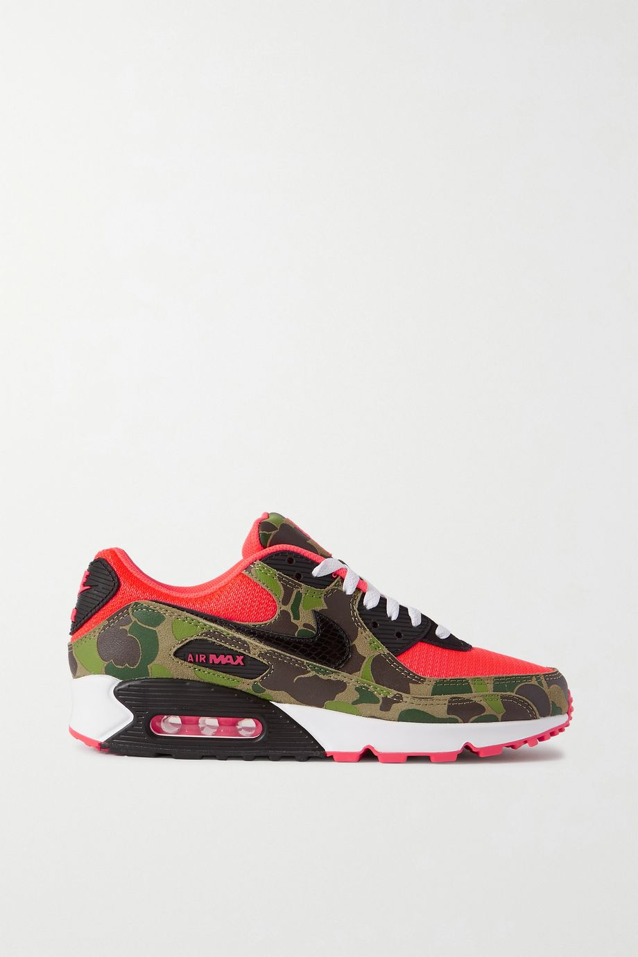 Nike Air Max 90 printed leather and mesh sneakers
