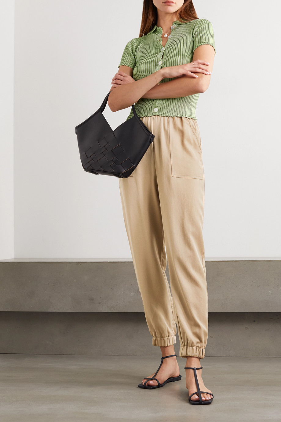 Reformation Montana Tencel-twill tapered pants