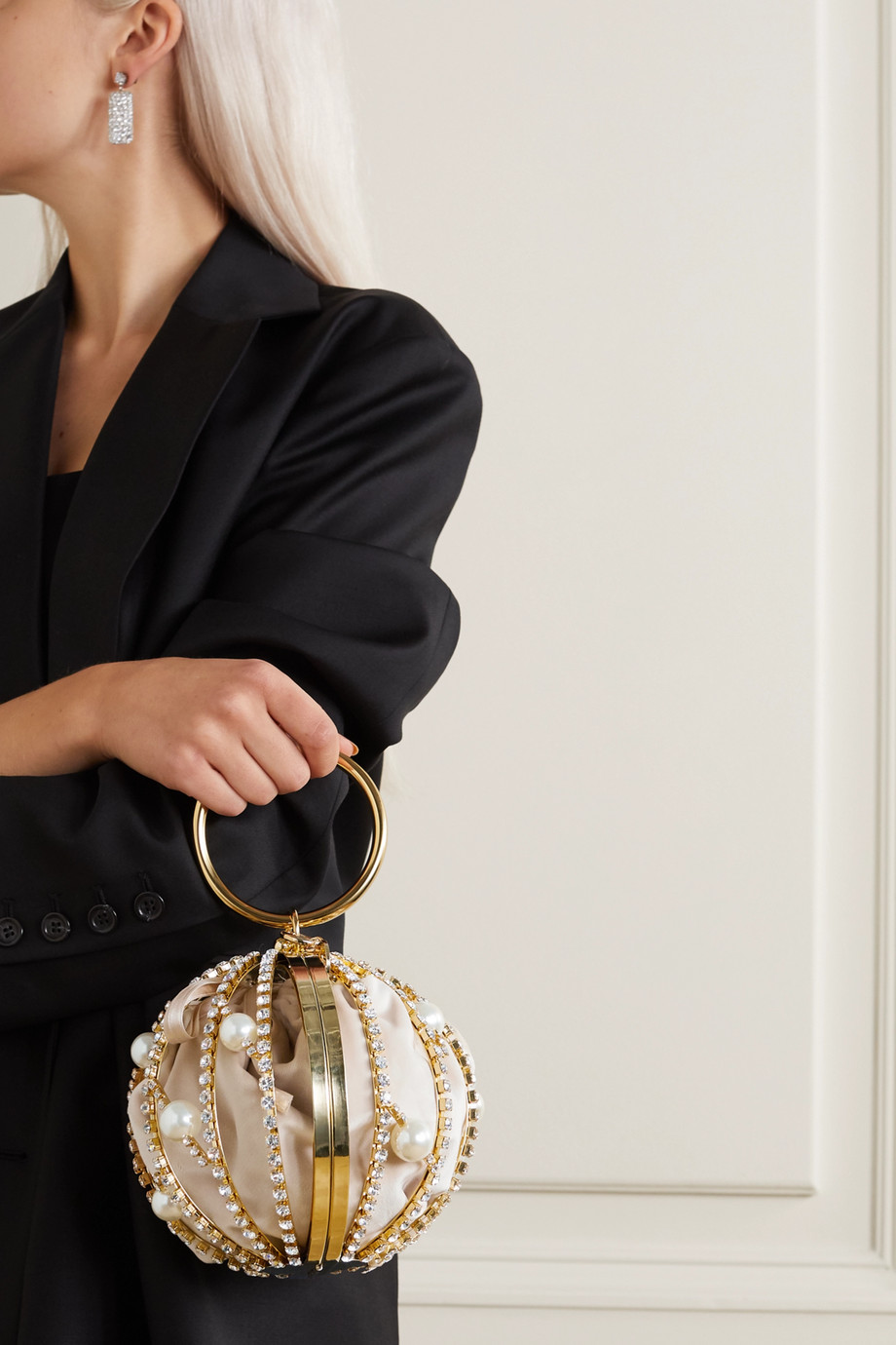 Rosantica Chloe 带缀饰金色手提包