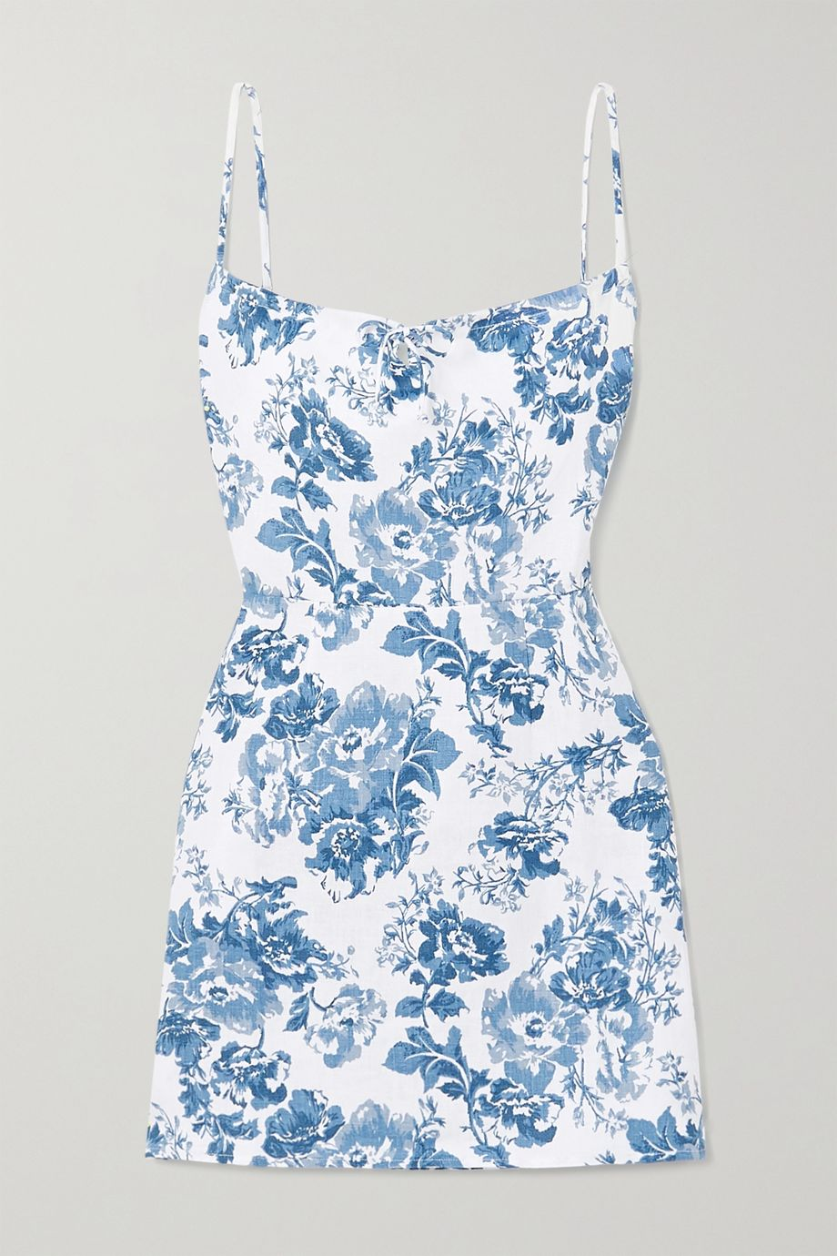 Reformation Violaine floral-print linen mini dress