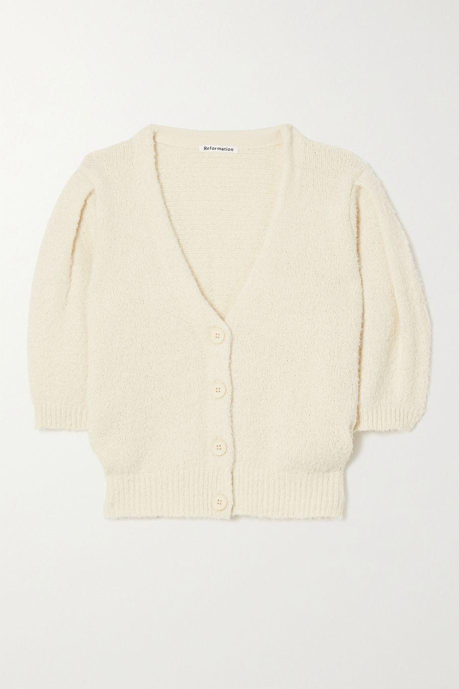 Reformation Hope cropped organic cotton cardigan