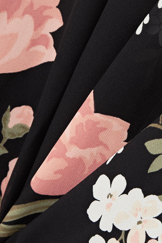 Black Rosehip Floral-print Georgette Midi Dress | Reformation