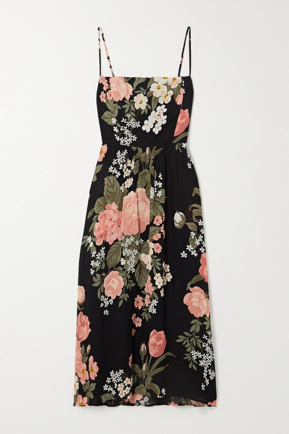 Reformation Rosehip floral-print georgette midi dress