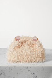 Vanina The Romeo bead-embellished fringed mesh clutch