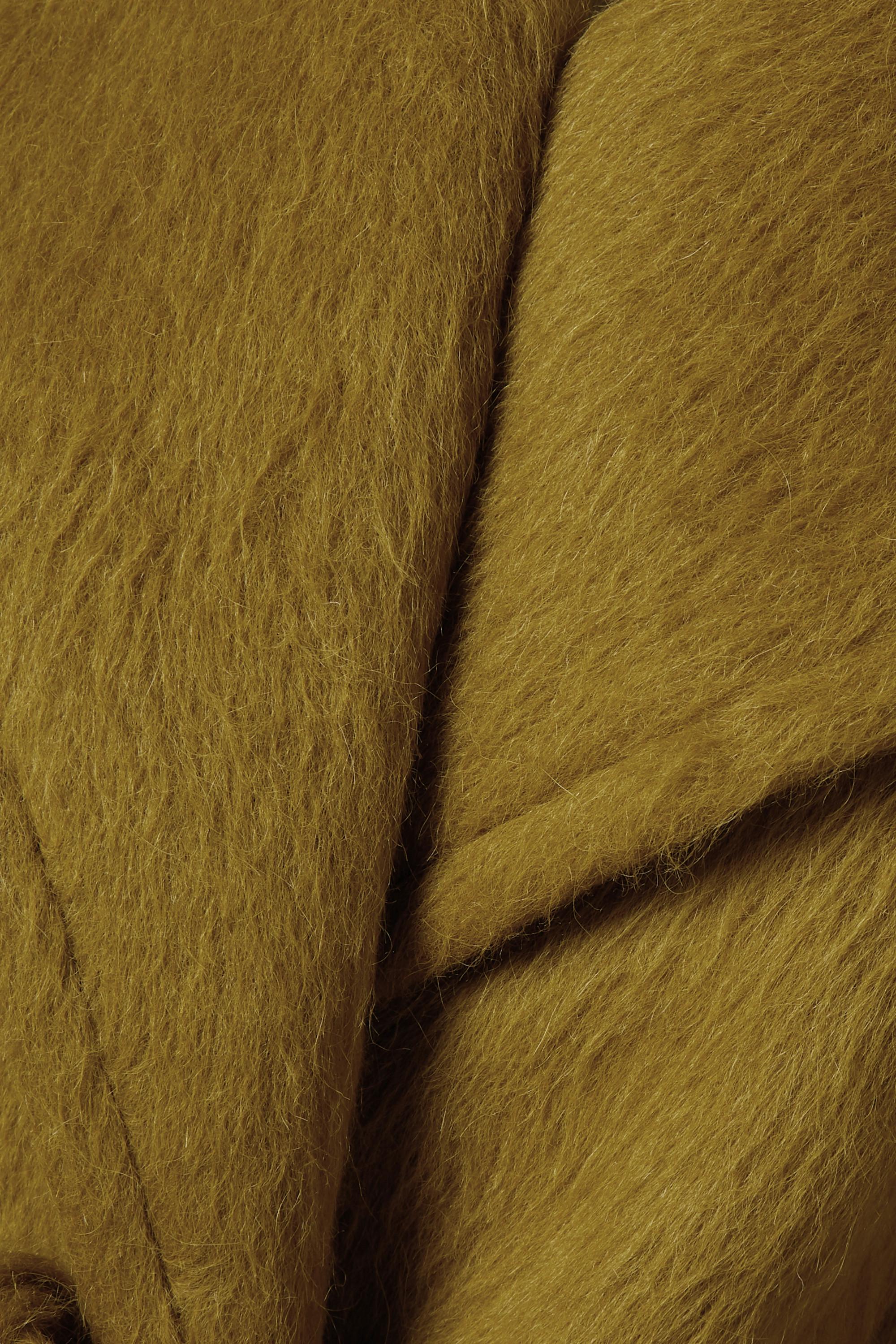 Dries Van Noten Mantel aus einer Alpakawolle-Wollmischung mit Bindegürtel