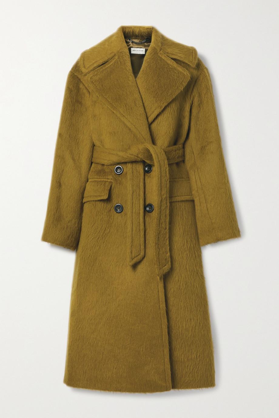 Dries Van Noten Belted alpaca and wool-blend coat