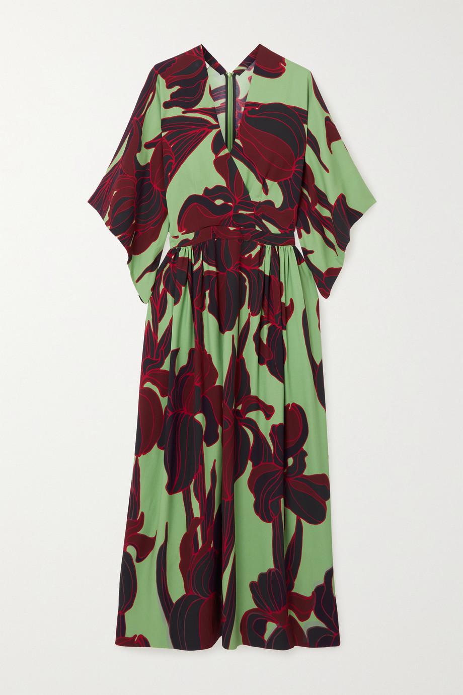 Dries Van Noten Floral-print crepe midi dress