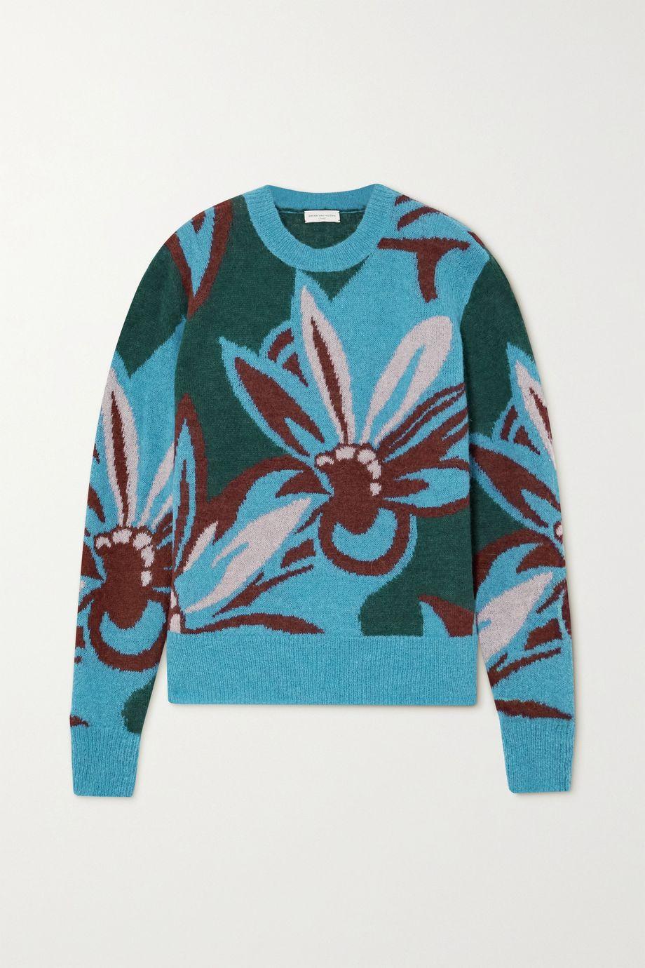 Dries Van Noten Intarsia alpaca-blend sweater