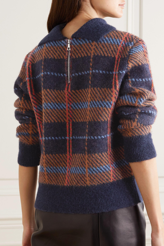 Dries Van Noten Maldives checked alpaca-blend sweater
